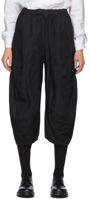 Comme des Garçons Comme des Garçons Black Gabardine Panelled Trousers