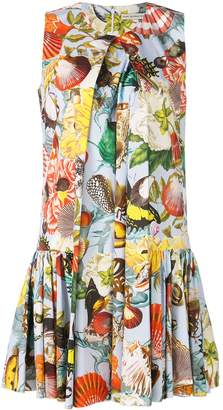 Mary Katrantzou Seashell print pleated dress