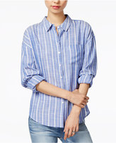 Velvet Heart Lina Striped Roll-Tab Shirt