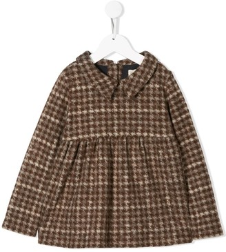 Douuod Kids Houndstooth Peplum Top