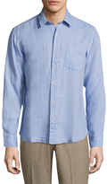 Toscano Spread Collar Linen Sportshirt