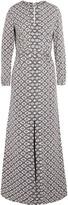 Tory Burch Embellished printed silk-blend jacquard dress