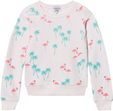 Wildfox Couture Pink All Over Flamingo Print Sweater