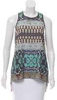 Clover Canyon Sleeveless Graphic Print Top