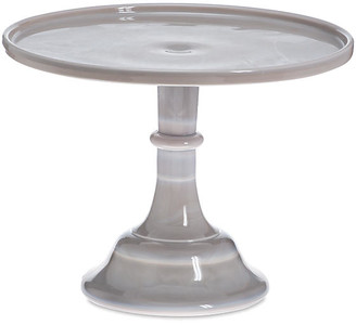 "Mosser Glass 10"" Cake Stand - Gray Marble"