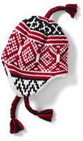 Classic Boys Chunky Knit Peruvian Hat-Rich Red Chunky Fairisle