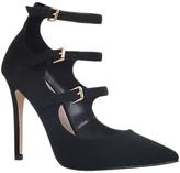 Carvela Lynx Triple Strap Court Shoes, Black