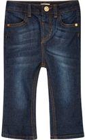 River Island Mini girls dark wash flare jeans