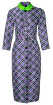 Roksanda Ilincic Checked Purple Dress