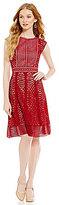 Antonio Melani Rowena Cap Sleeve A-Line Lace Dress