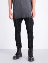 Boris Bidjan Saberi Tape seamed-detailed tapered mid-rise cotton trousers