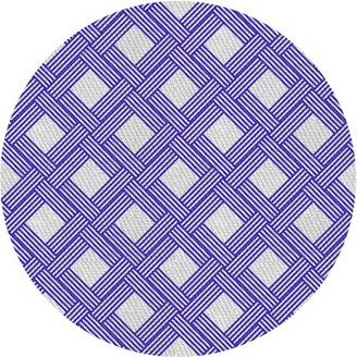Ivy Bronx Horgan Patterned Blue Area Rug Rug Size: Round 3'