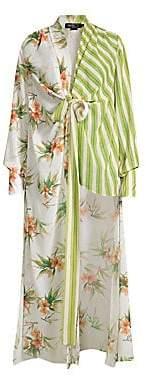 PatBO Women's Mixed Print High-Low Tunic