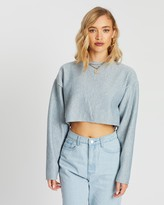 Missguided Ribbed Oversized Cropped Jumper