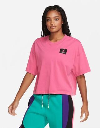 Jordan Nike Statement Essentials boxy t-shirt in pink