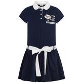 Fendi FendiGirls Navy Cotton Cloud Dress