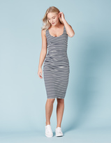 Boden Scoop Neck Ruched Dress