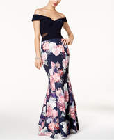 Xscape Evenings Off-The-Shoulder Mermaid Gown, Regular & Petite Sizes
