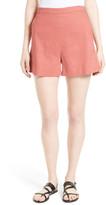 Theory Tarrytown Stretch Linen Blend Shorts