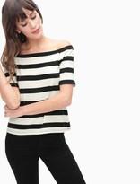 Splendid Seaboard Stripe Off Shoulder Top