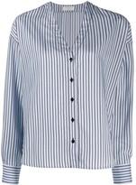 Sandro Paris v-neck striped shirt
