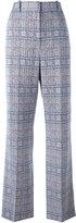 Celine plaid flared trousers