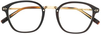 Matsuda Two-Tone Round-Frame Glasses