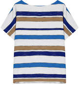 Gerard Darel Mixed Stripe Popcorn Knit Top