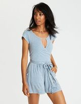 American Eagle Outfitters AE Soft & Sexy Wrap Romper