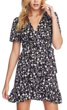 1 STATE 1.State 1.state Floral-Print Flounce Wrap Dress