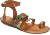 Star Bay Women's Sandals Camel - Camel & Brown Floral Gladiator Sandal - Women