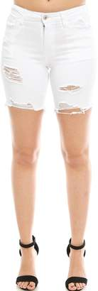 Vervet Distressed Bermuda Shorts
