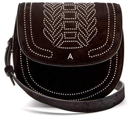 Altuzarra Ghianda Mini Stud Embellished Suede Bag - Womens - Black