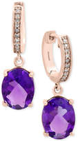 Effy Viola Amethyst (3-1/2 ct. t.w.) and Diamond Accent Drop Earrings in 14k Rose Gold