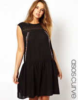 Asos Exclusive Dress With Embroidery