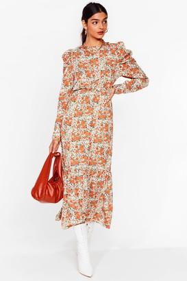 Nasty Gal Womens Lookin' Bud on the Dancefloor Floral Madi Dress - Cream