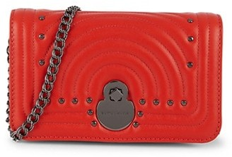 Longchamp Quilted Leather Wallet-On-Chain