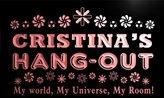 AdvPro Name pq433-r Cristina's Hang Out Girl Kid's Room Light Neon Sign