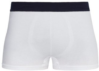 Hamilton And Hare - Tubular Stretch-cotton Boxer Trunks - Mens - White