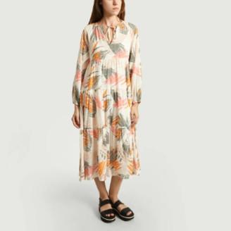 Closed Peach Stella Print Dress - xs