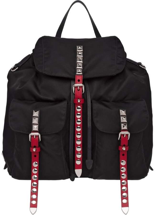 ecd00ffe48572c Prada Studded Handbag - ShopStyle