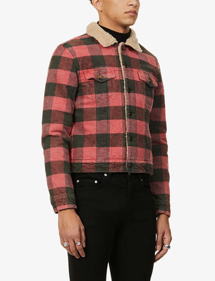 Saint Laurent Checked fitted cotton jacket