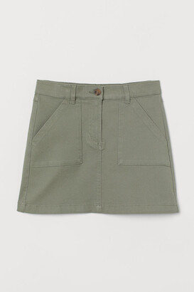 H&M Cotton twill skirt