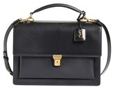 Saint Laurent 'High School' Calfskin Leather Top Handle Satchel - Black