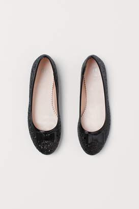 H&M Glittery Ballet Flats