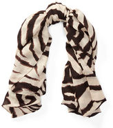 Ralph Lauren Zebra-Print Cashmere Scarf