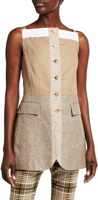Burberry Wool-Cashmere and Linen Waistcoat