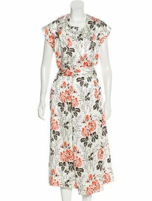 Victoria Beckham Printed Midi Dress w/ Tags White
