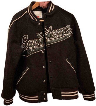 Supreme Black Wool Jackets