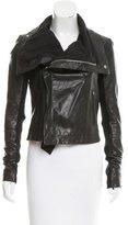 Veda Leather Asymmetrical-Zip Jacket